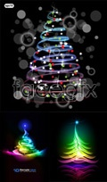 Link toColorful christmas tree background vector