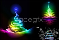 Link toColorful christmas tree background