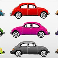 Link toColorful classic cars vector material