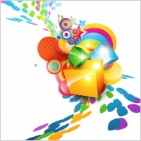 Link toColorful cube vector background
