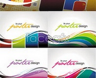 Link tovector background curve Colorful