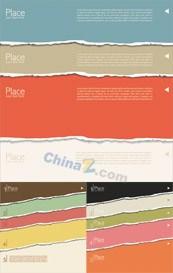 Link toColorful design torn paper banner template vector