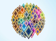 Link toColorful diamond shapes vector free