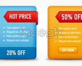 Link toColorful discount package labels vector