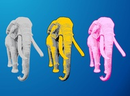 Link toColorful elephants vector free