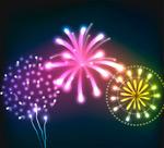 Link toColorful fireworks design vector