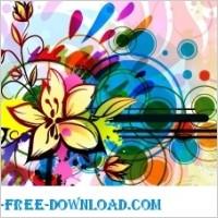 Link toColorful floral background vector background