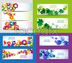 Link toColorful floral banner vector