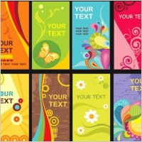 Link toColorful floral card template vector material