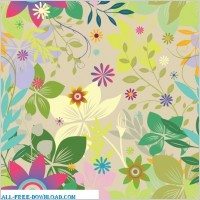 Link toColorful floral seamless pattern background