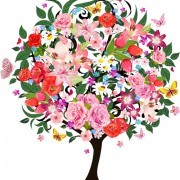 Link toColorful floral tree vector graphic 02