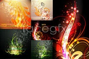 Link toColorful flower background vector ii