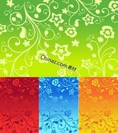 Link toColorful flower pattern background vector