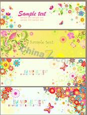 Link toColorful flower pattern banner vector