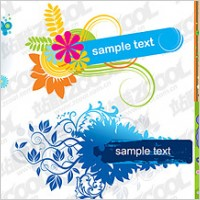 Link toColorful flower pattern vector material