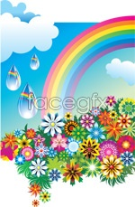 Link toColorful flower rainbow vector