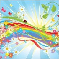 Link toColorful flower vector in the world
