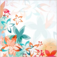 Link toColorful flowers background pattern 01 vector