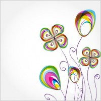 Link toColorful flowers background pattern 02 vector