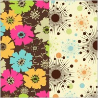 Link toColorful flowers vector background