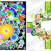 Link toColorful flowers vector