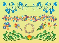 Link toColorful flowers vectors pack free