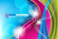 Link toColorful flowery vector background for three