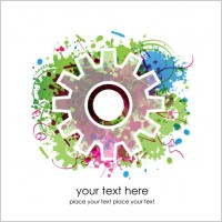 Link toColorful gears background 02 vector