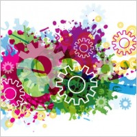 Link toColorful gears background 03 vector