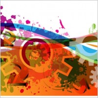 Link toColorful gears background 05 vector