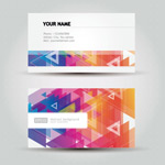 Link toColorful geometric patterns business cards vector