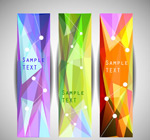 Link toColorful geometric-shaped banne vector