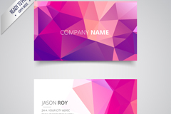 Colorful geometric-shaped business cards vectors