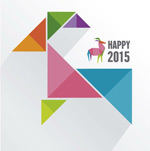 Link toColorful geometric-shaped goat vector