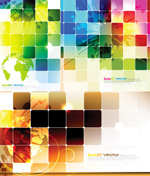 Link toColorful grid technology background vector