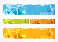 Link toColorful grunge banners vector free