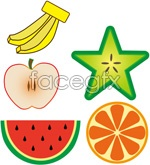 Link toColorful hand-painted fruit vector
