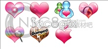 Link toColorful heart-shaped system icons