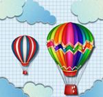 Link toColorful hot air balloon vectors
