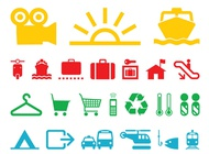 Link toColorful icons set vector free