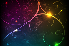 Link toColorful light effect background pattern vector