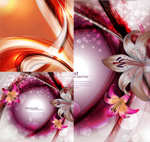Colorful lily background vector