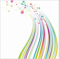 Colorful lines and dots vector background