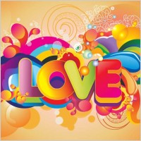 Link toColorful love background vector art