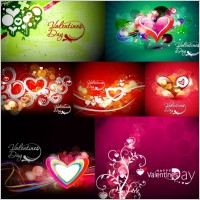 Link toColorful love card vector