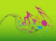 Link toColorful music design vector free