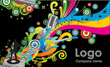 Link toColorful music posters psd