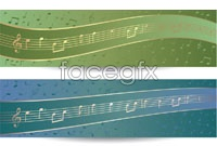 Link toColorful musical notes banner