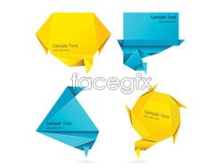 Link toColorful origami decorative graphics vector 5