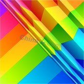 Link toColorful origami figure at the end of a vector design template